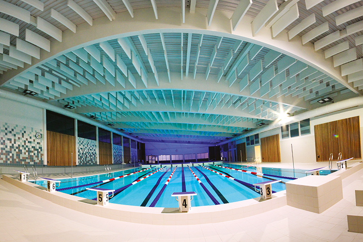 R novation de la piscine bastogne infrastructures sportives for Centre sportif cote des neiges piscine